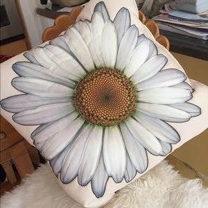 Other - White sunflower daisy flower petal pillow